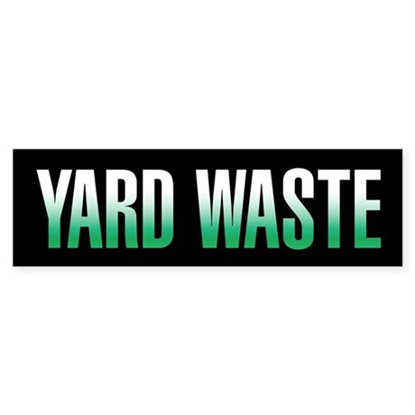 Yard Waste Sticker (Black Series)