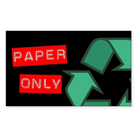 Paper Only Recycling Sticker (Black Series)
