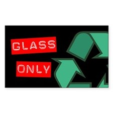 Glass Only Recycling Sticker (Black Series)
