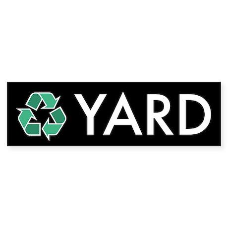 Yard Recycling Sticker (Black Series)