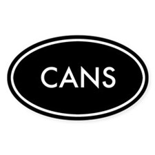 Cans Oval Sticker (Black Series)