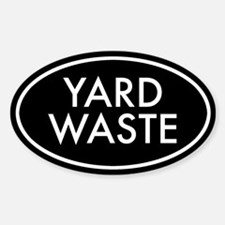 Yard Waste Oval Sticker (Black Series)