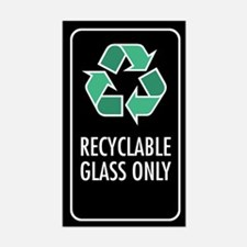 Recyclable Glass Only Sticker (Black w/Symbol)