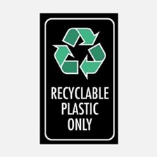 Recyclable Plastic Only Sticker (Black w/Symbol)