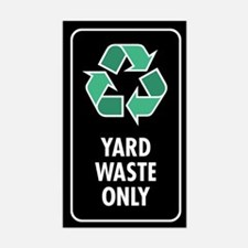 Yard Waste Only Sticker (Black w/Symbol)