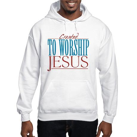 Created to Worship Jesus Hooded Sweatshirt