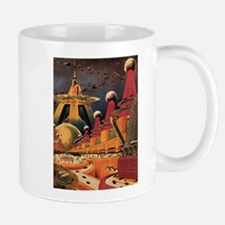 Vintage Science Fiction Futuristic City Mug