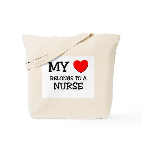 My Heart Belongs To A NURSE Tote Bag