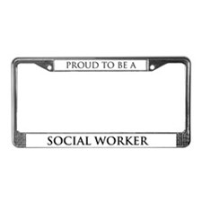 Proud Social Worker License Plate Frame
