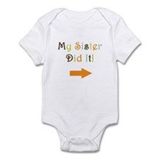 My Sister Did It! Infant Bodysuit