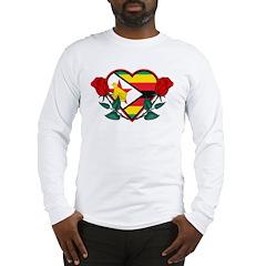 Heart Zimbabwe Long Sleeve T-Shirt
