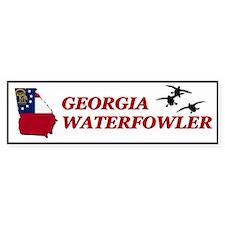 Georgia Waterfowler I Bumper Bumper Sticker