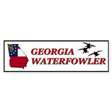 Georgia Waterfowler I Bumper Bumper Sticker