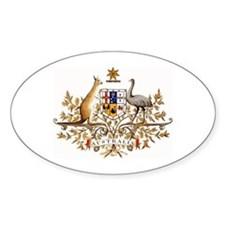 Australian Coat of Arms Oval Decal