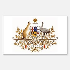 Australian Coat of Arms Rectangle Stickers