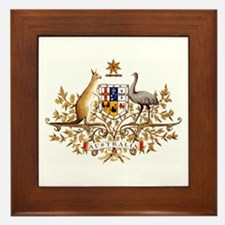 Australian Coat of Arms Framed Tile