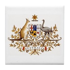 Australian Coat of Arms Tile Coaster