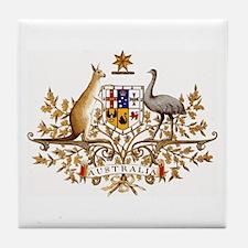 Australian Coat of Arms Tile Coaster