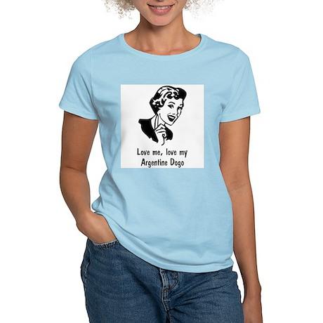 Argentine Dogo Women's Pink T-Shirt