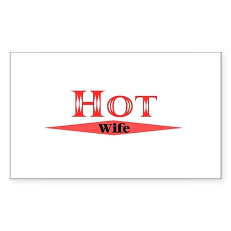 Hot Wife Rectangle Sticker