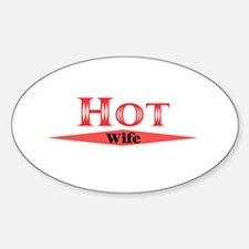 Hot Wife Oval Decal