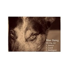 Blue Dawg House Rectangle Magnet