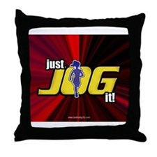 Just Jog It ... Throw Pillow