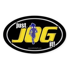Just Jog It ... Oval Decal