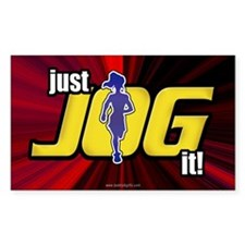 Just Jog It ... Rectangle Decal