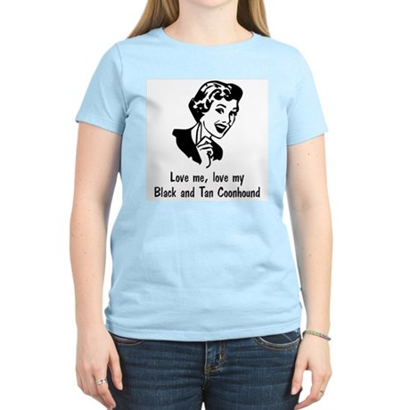 Black and Tan Coonhound Women's Pink T-Shirt