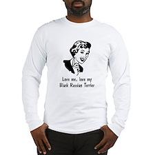 Black Russian Terrier Long Sleeve T-Shirt