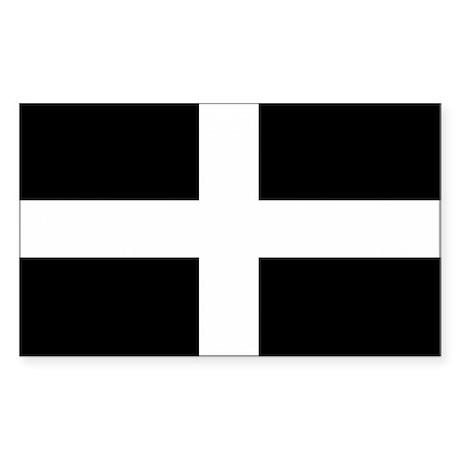 Comwall Design Decals : Saint Pirans Cornwall Flag Rectangle Sticker 10 by StickerTown