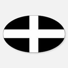 Saint Piran's Cornwall Flag Oval Decal