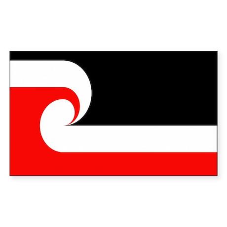 Maori Flag Rectangle Sticker