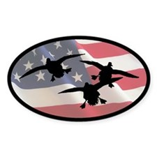 American Ducks Oval Decal