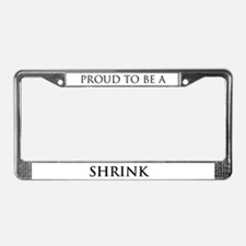 Proud Shrink License Plate Frame