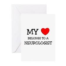 My Heart Belongs To A NEUROLOGIST Greeting Cards (