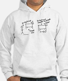 Escaped cow tramples ex! Hoodie