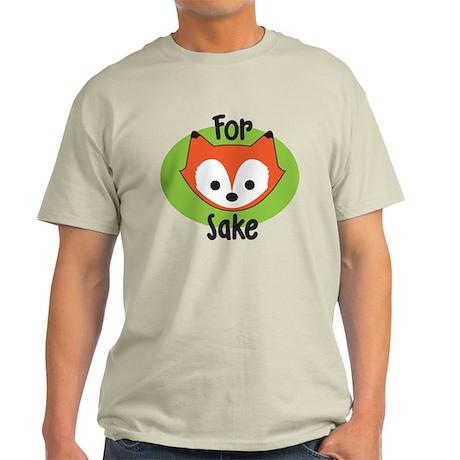 For Fox Sake White T-Shirt