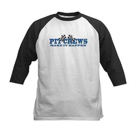Pit Crews Make It Happen Kids Baseball Jersey