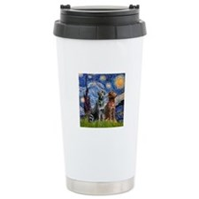 Starry / 2 Labradors (Blk+C) Travel Mug