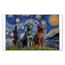 Starry / 2 Labradors (Blk+C) Decal