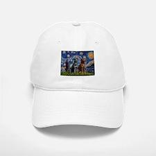 Starry / 2 Labradors (Blk+C) Baseball Baseball Cap