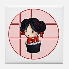 Sushi Girl Tile Coaster