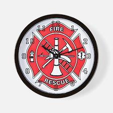 Code4 Tshirts Fire Department Maltese Wall Clock