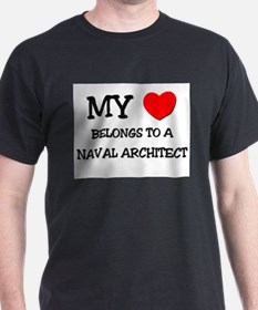 My Heart Belongs To A NAVAL ARCHITECT T-Shirt