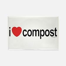 I Love Compost Rectangle Magnet (10 pack)
