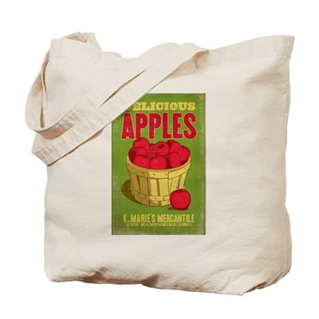 K. Marie's Delicious Apples Tote Bag