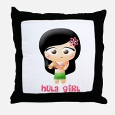 Hula Girl Cutie Patootie Throw Pillow