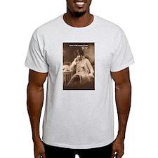 Spinoza: Desire and Man Ash Grey T-Shirt